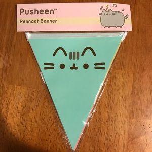 Pusheen cat party banner